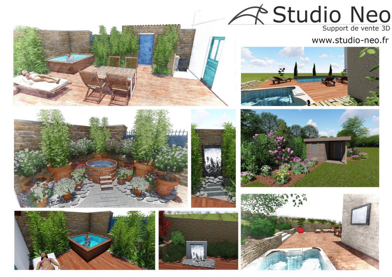 Studio neo paysagiste for Conception jardin